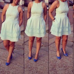 EXPRESS Front zip dress